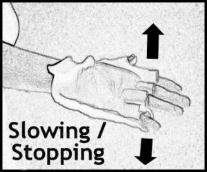 Hand Signal - Slowing and Stopping